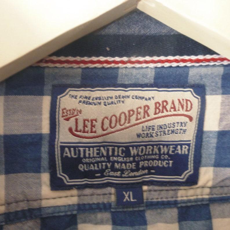 2c5279618b LEE Cooper t-Shirt. Größe XL. Karierte Baumwolle blau-weißen | Etsy