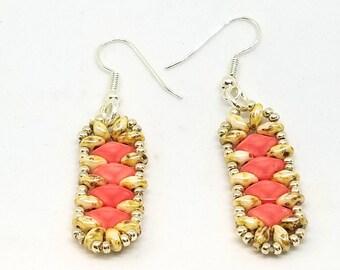 Chalk Bead Earrings, Cute Earrings, Friendship Gift