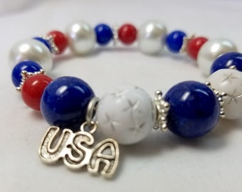All American Stretch Bracelet