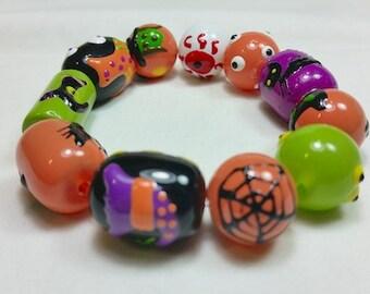 Witchy Eyes Halloween Bracelet