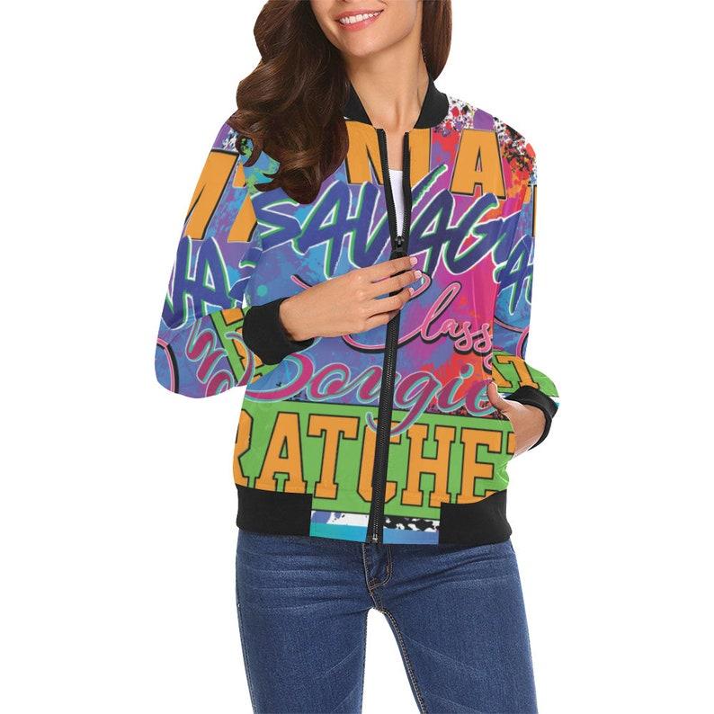 Savage All Over Print Bomber Jacket
