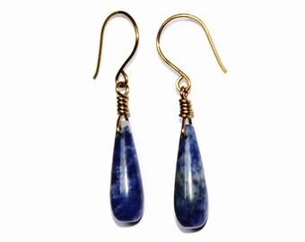 Sodalite Earrings, Blue Earrings