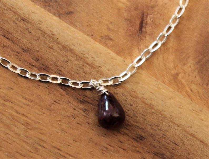 July/'s Birthstone Bridesmaid/'s Gift Ruby Bracelet on Sterling Silver Chain Ruby Peardrop Charm Bracelet