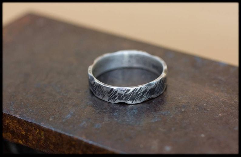 4b28b40f18468 Anillo plata para hombre  Anillo de boda Anillo de