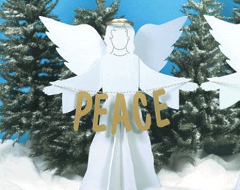 Peace On Earth Angels Woodcraft Pattern