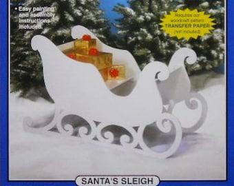 Santa's Sleigh (Large Size) Wood Craft Pattern
