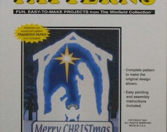 Glowing White Nativity Wood Craft Pattern
