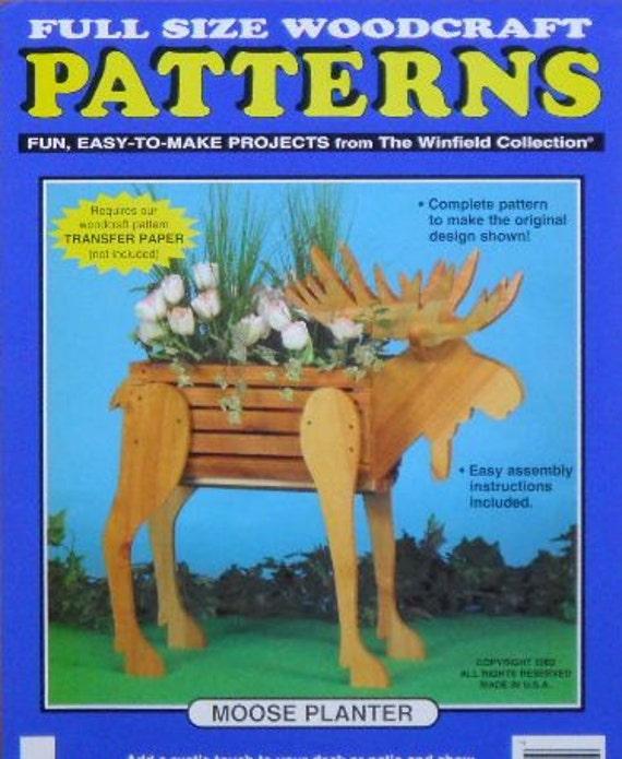 Moose Flower Planter Woodcraft Pattern Etsy Classy Woodcraft Patterns