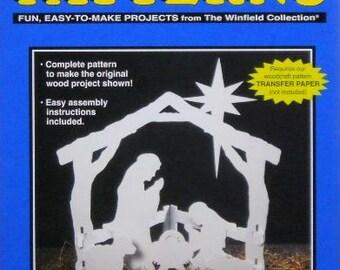 Silent Night Nativity WOOD CRAFT PATTERN - Small Size