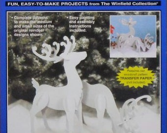 Elegant Reindeer (Medium & Small Size) Wood Craft Pattern