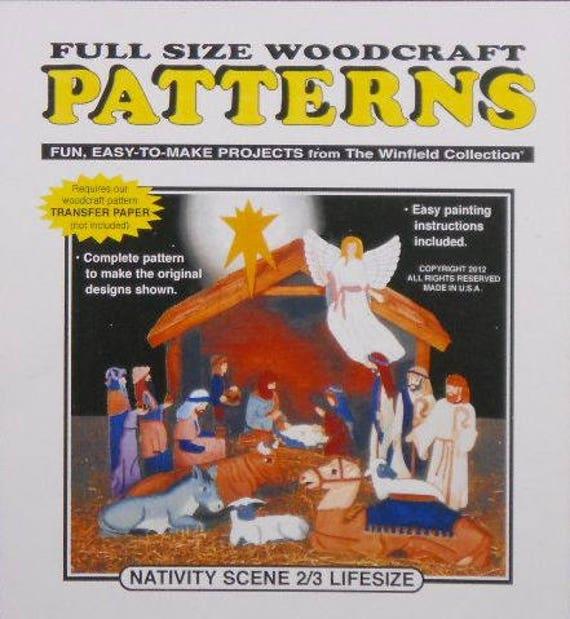 Nativity Scene 6060rds Life Size Woodcraft Pattern Etsy Enchanting Woodcraft Patterns