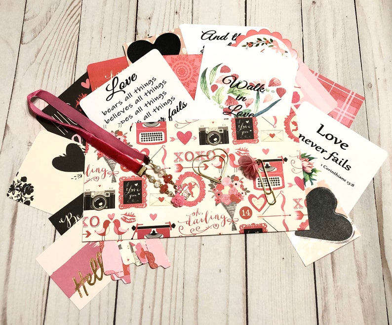 Discounted-Valentines Day Grab Bag Planner Kit Journaling image 0