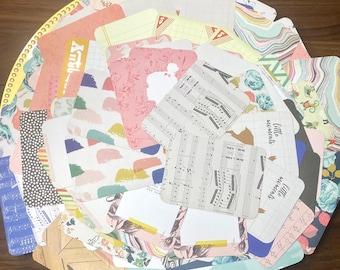 Destash-100 piece Scrapbook Journaling Cards- Die cuts-3