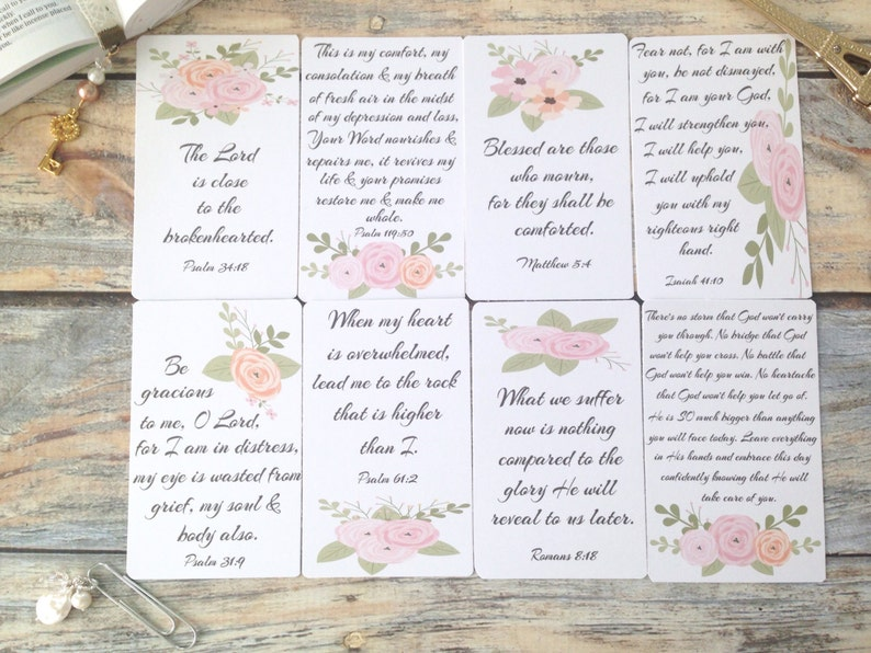 Grief Bible Scripture Quote Cards Bible Journaling Scripture image 0