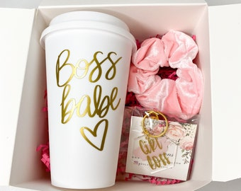 Boss Babe Gift Box-Girl Boss-To go coffee cup Lady Boss Mother's Day Gift-Gifts for Her