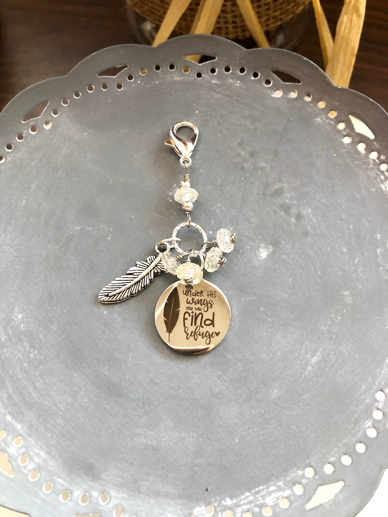 Under His Wings You Will Find Refuge Planner Charm-Gift Idea image 0