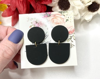 Black Statement Earrings-Gift-Wedding