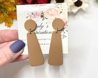 Rosy beige Statement Earrings-Gift-Wedding