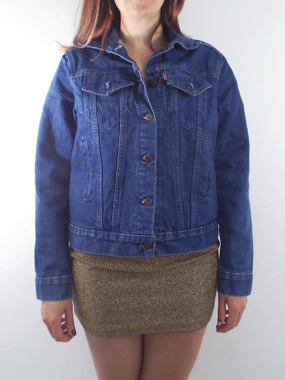 90er Jahre Levis Wäsche Vintage Dunkle Jeansjacke yNwvmn08OP