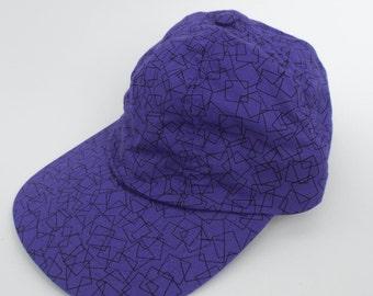 Vintage 90s Purple Geometric Print Hat