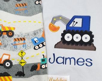 Baby Shower Gift/Construction Equipment Blanket/Soft and Cuddly/Boys Construction Blanket/Baby Boy Construction Trucks Blanket/Dump Truck