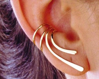 mountaineer clip earring sterling Peace ear clamp-ear clip pendulum in 925 sterling silver ear plug silver silver ear clip 925 ear clip