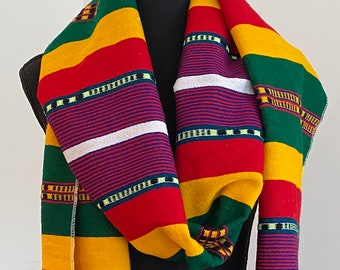 EXTRA long hand woven Ethiopian scarf