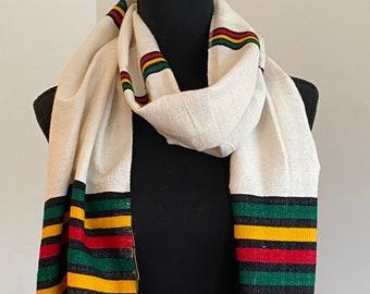 Handwoven Ethiopian colors scarf or head wrap