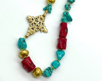 Hand beaded ((statement)) necklace