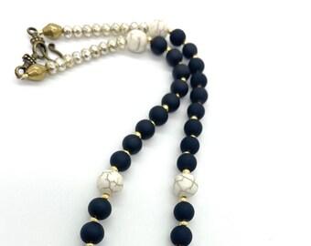 Brass spear pendant necklace