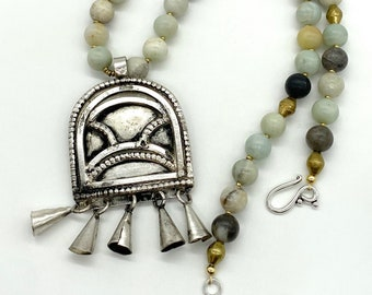 Hand beaded Ethiopian talisman necklace