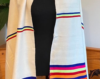 Colorful handwoven cotton scarf