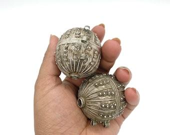 Antique pure silver Yemeni wedding beads