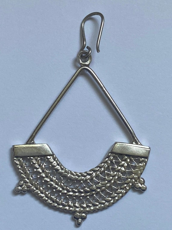 Sterling Silver Ethiopian chandelier earrings - image 4