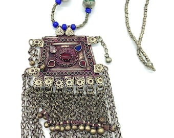 Antique Afghani Kochi tribe necklace