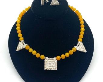 Nigist necklace earring set