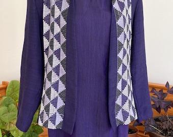 90s Vintage hand made royal purple Ethiopian dress and blazer