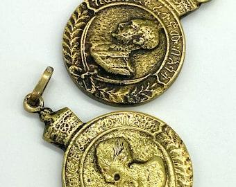 Hand made brass Haile Selassie I medallion pendant