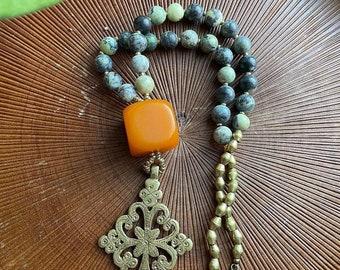 Vintage Abyssinian Amber necklace
