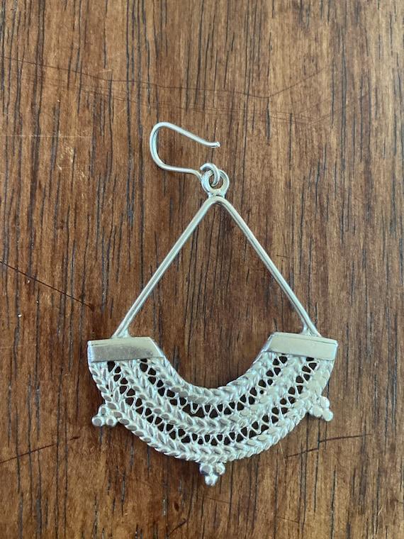Sterling Silver Ethiopian chandelier earrings - image 7