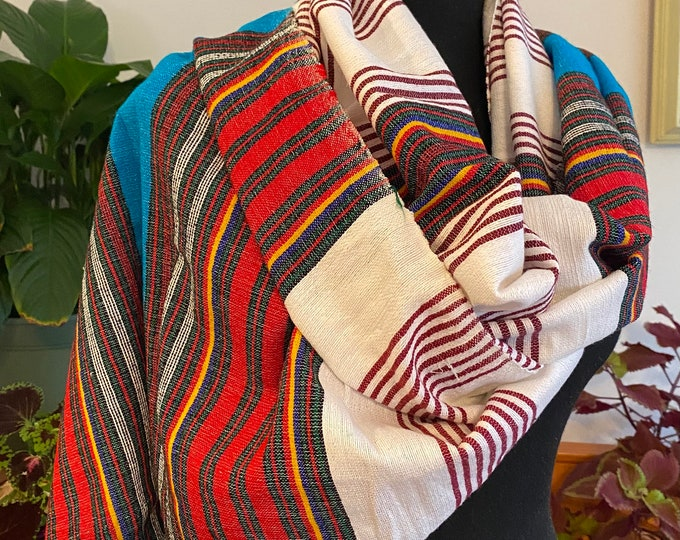 Featured listing image: Sky walker shawl (hand woven)