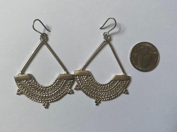 Sterling Silver Ethiopian chandelier earrings - image 8