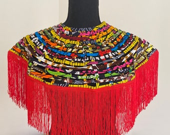 Hand made Kenyan bib necklace top accessory