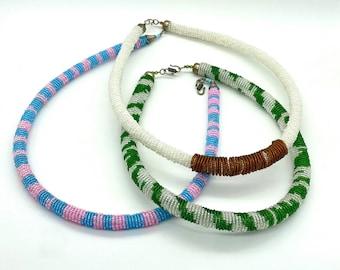 Handmade Kenyan beaded collars