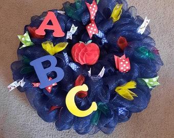 School theme wreath