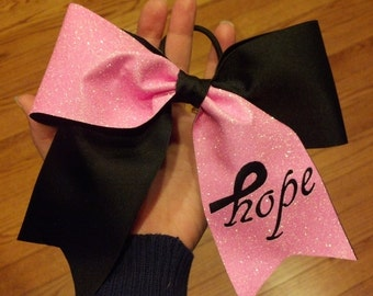 Breast Cancer Awareness HOPE Cheer bow