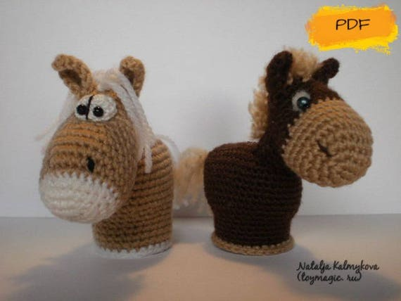 small horses toy crochet pattern pdf small cute etsy