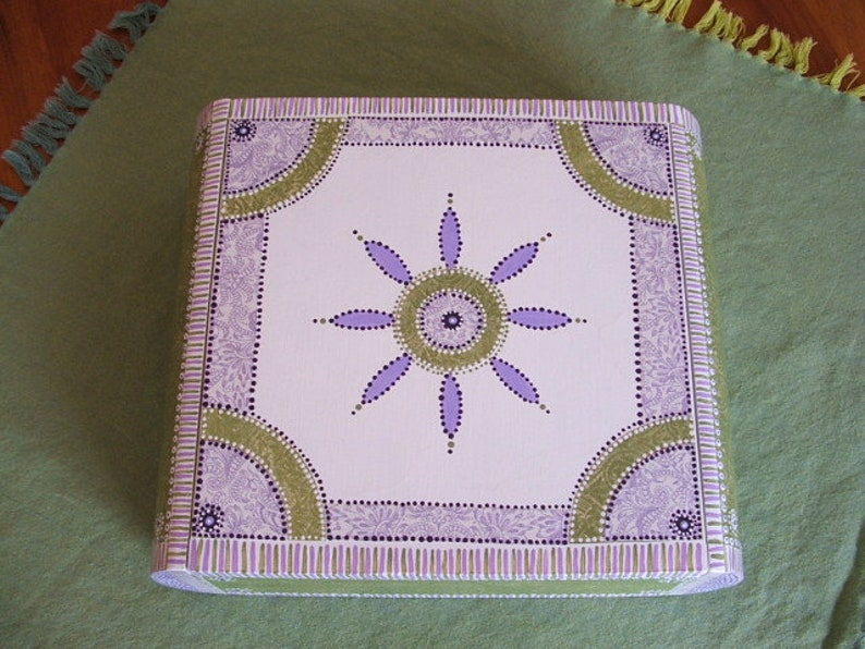 Shabby Chic Storage Box Painted Keepsake Box Decoupage Jewelry Box Hand Painted Wood Jewelry Box Decoupage Box Recycled Cigar Box