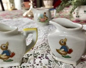 Vintage Child-Sized Pitchers–Set of 3-Made in Japan with Ducks and Bunnies for birthday, collectors, children,