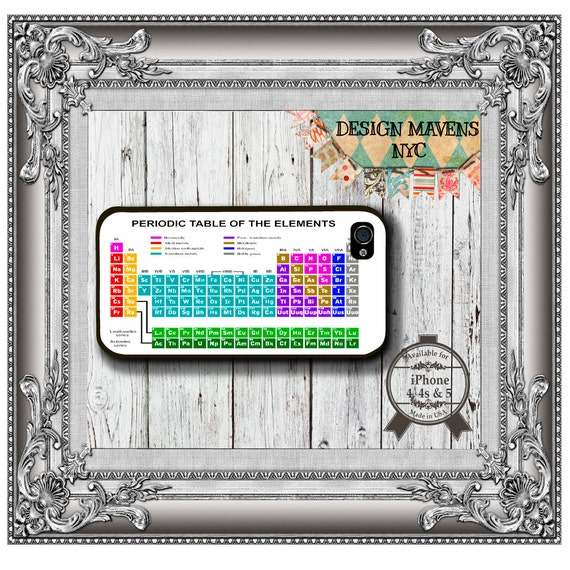 Periodic Table Iphone Case Hard Plastic Iphone Case Fits Etsy
